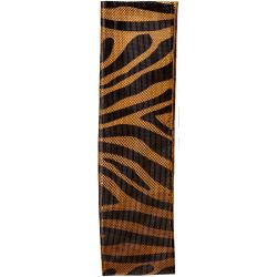 gold lame zebra stripe ribbon