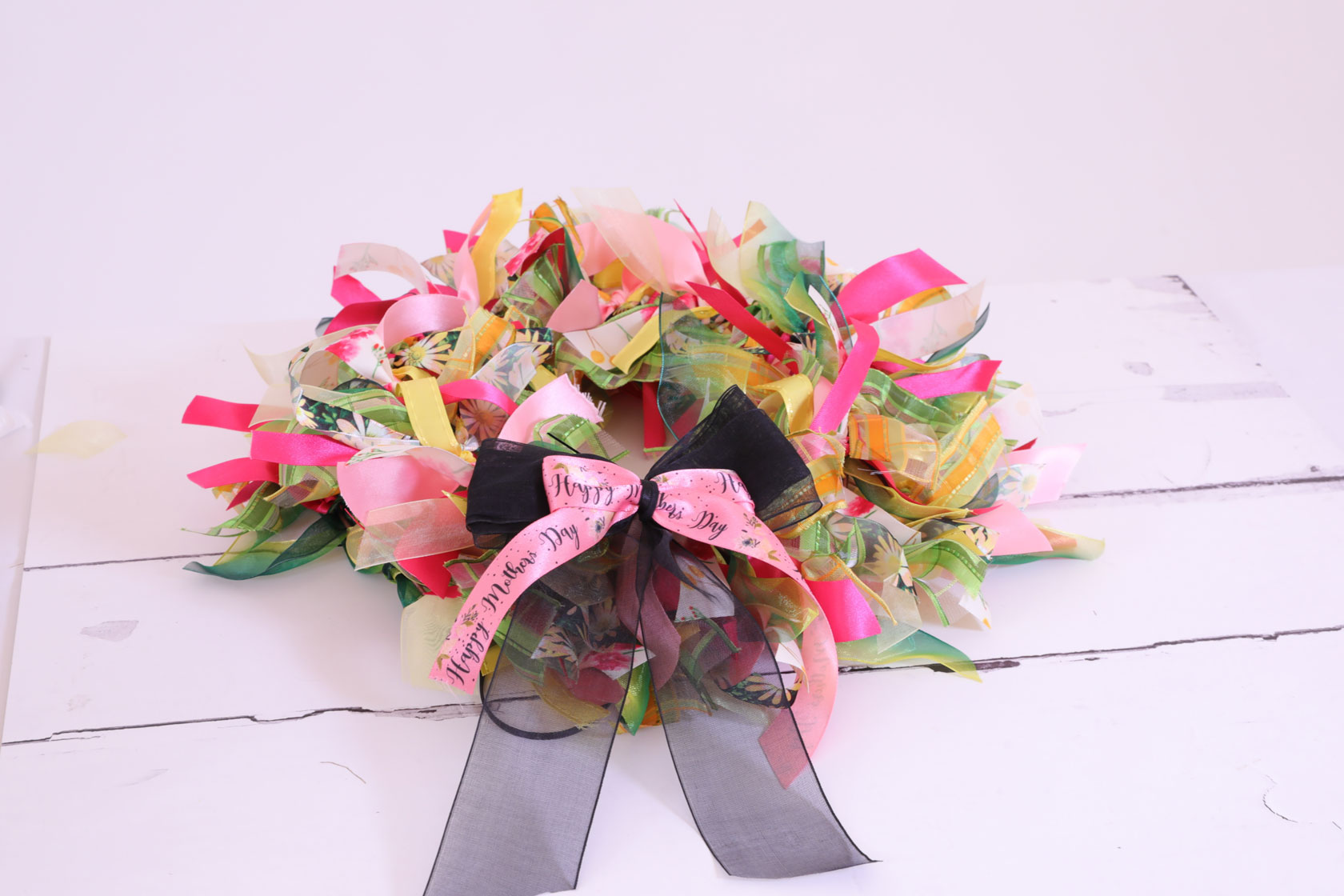 mothers day ribbon wreath