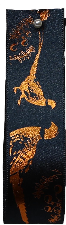 bronze pheasant print ribbon