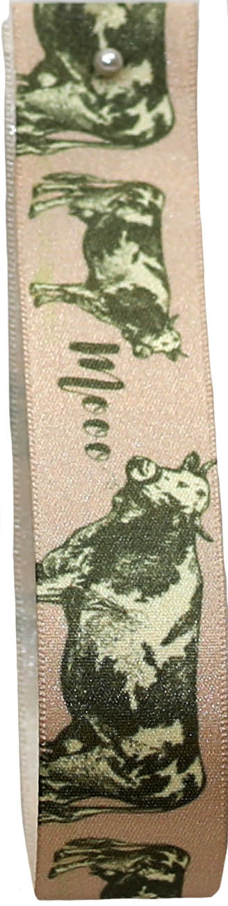 cow themed ribbon