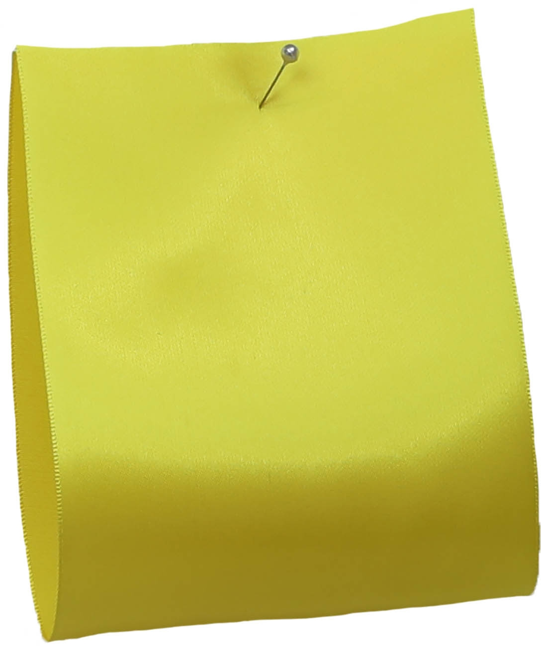 100mm wide satin ribbon in yellow