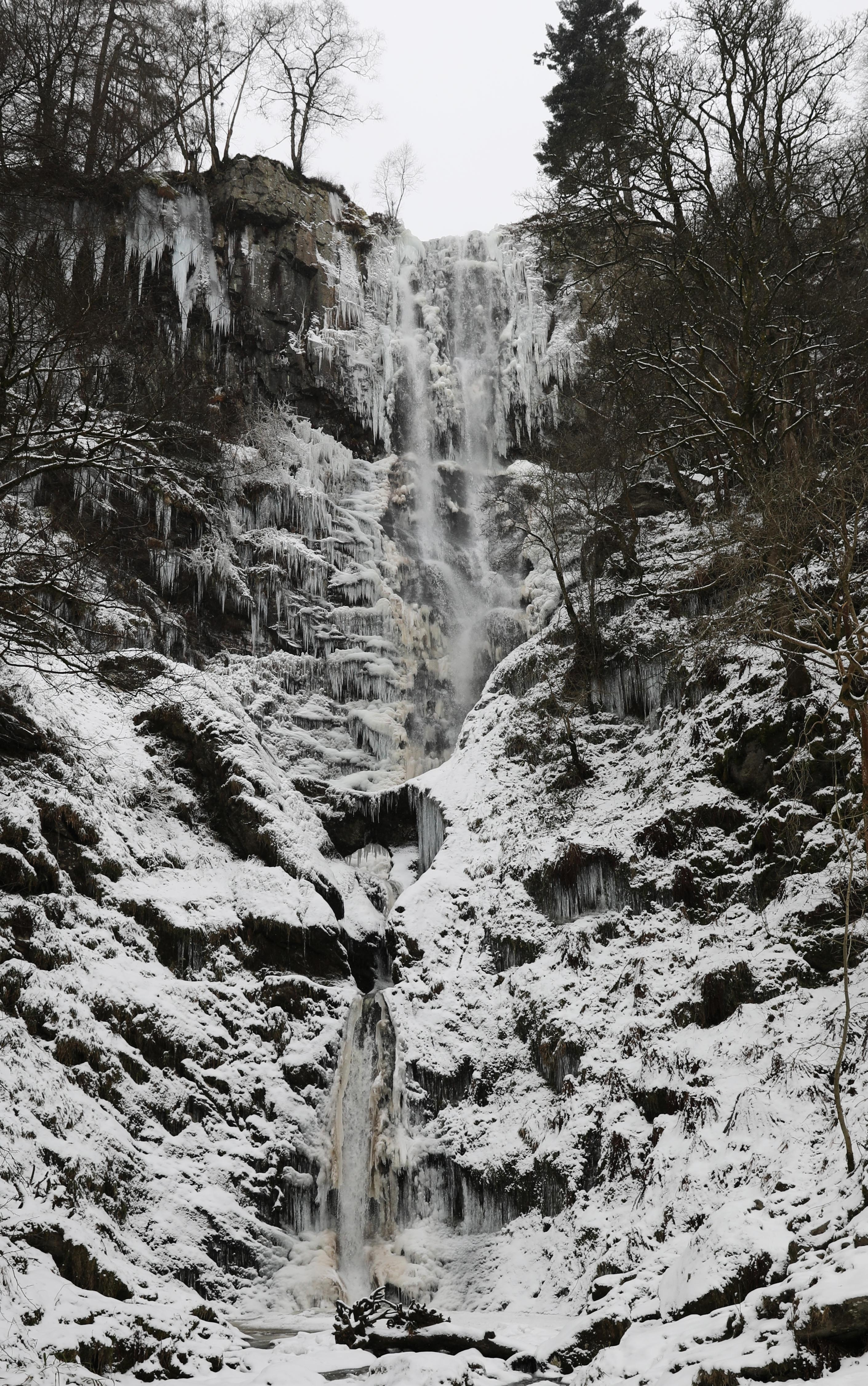 waterfall iced over this winter