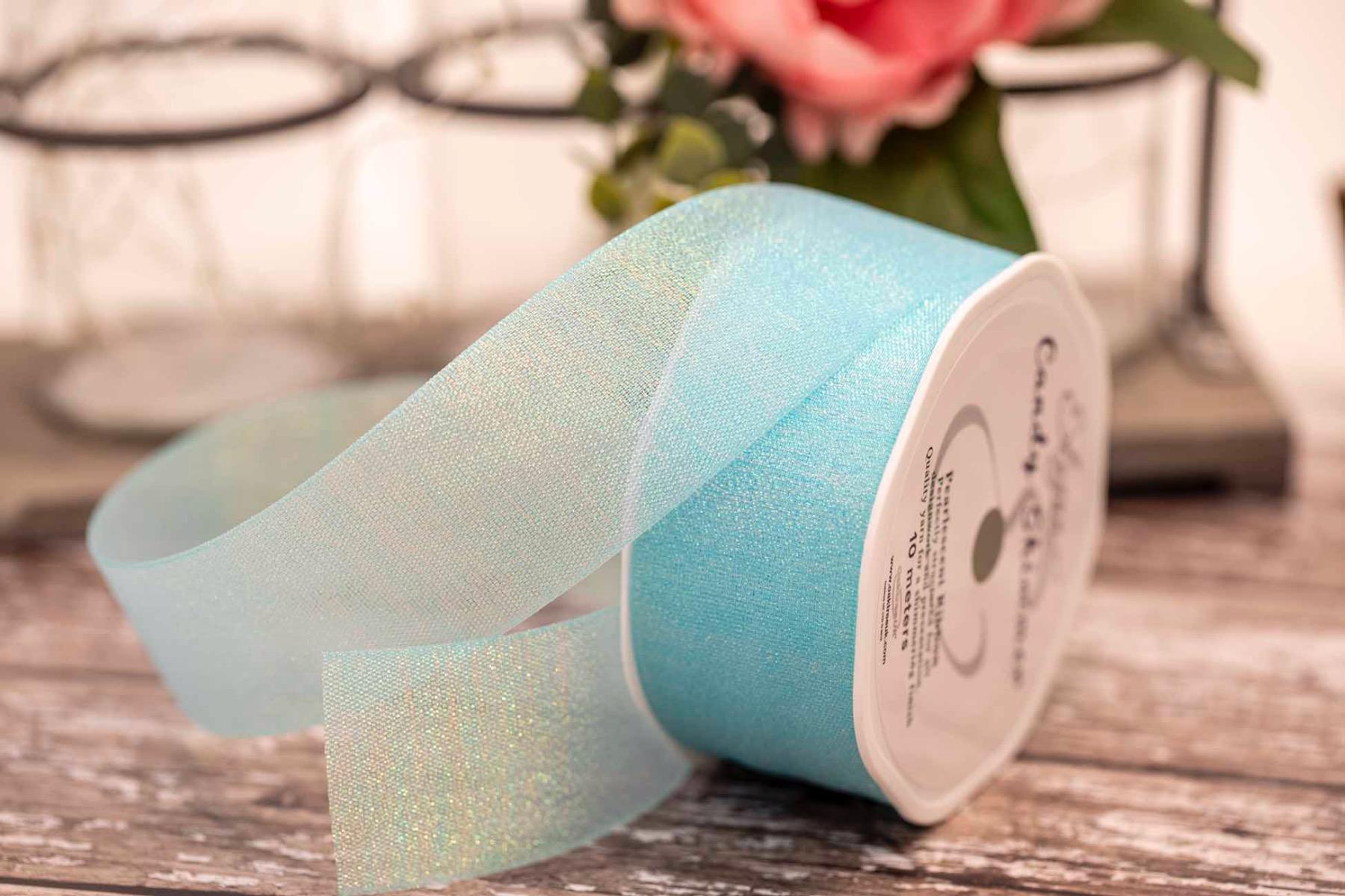 Blue Shimmer iridescent ribbon