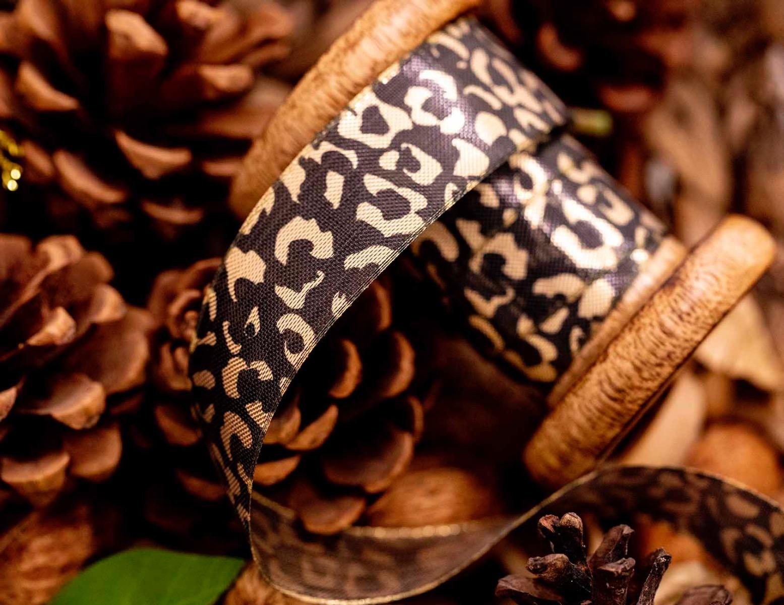 gold leopard spot ribbon