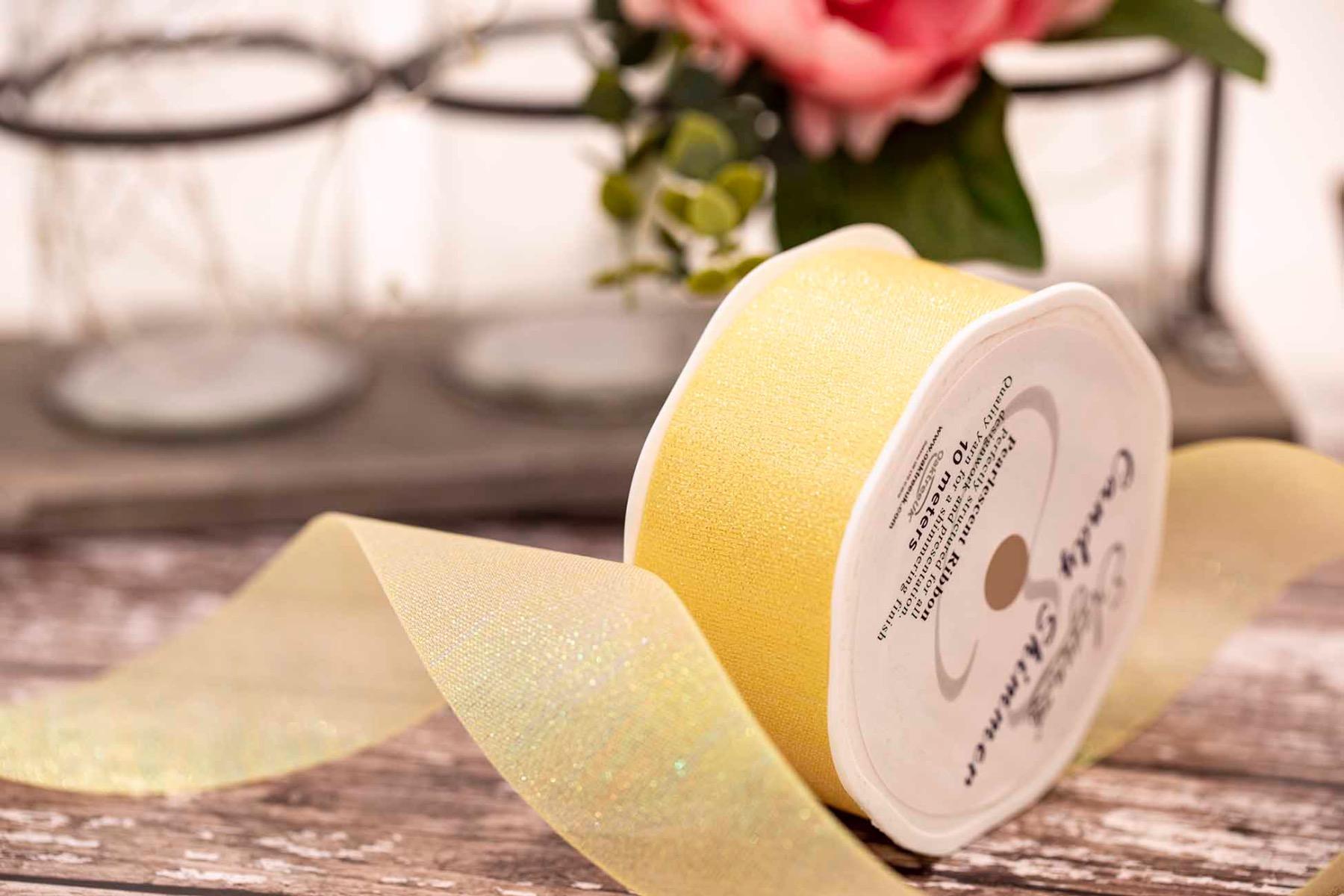 Lemon Iridescent shimmer ribbon