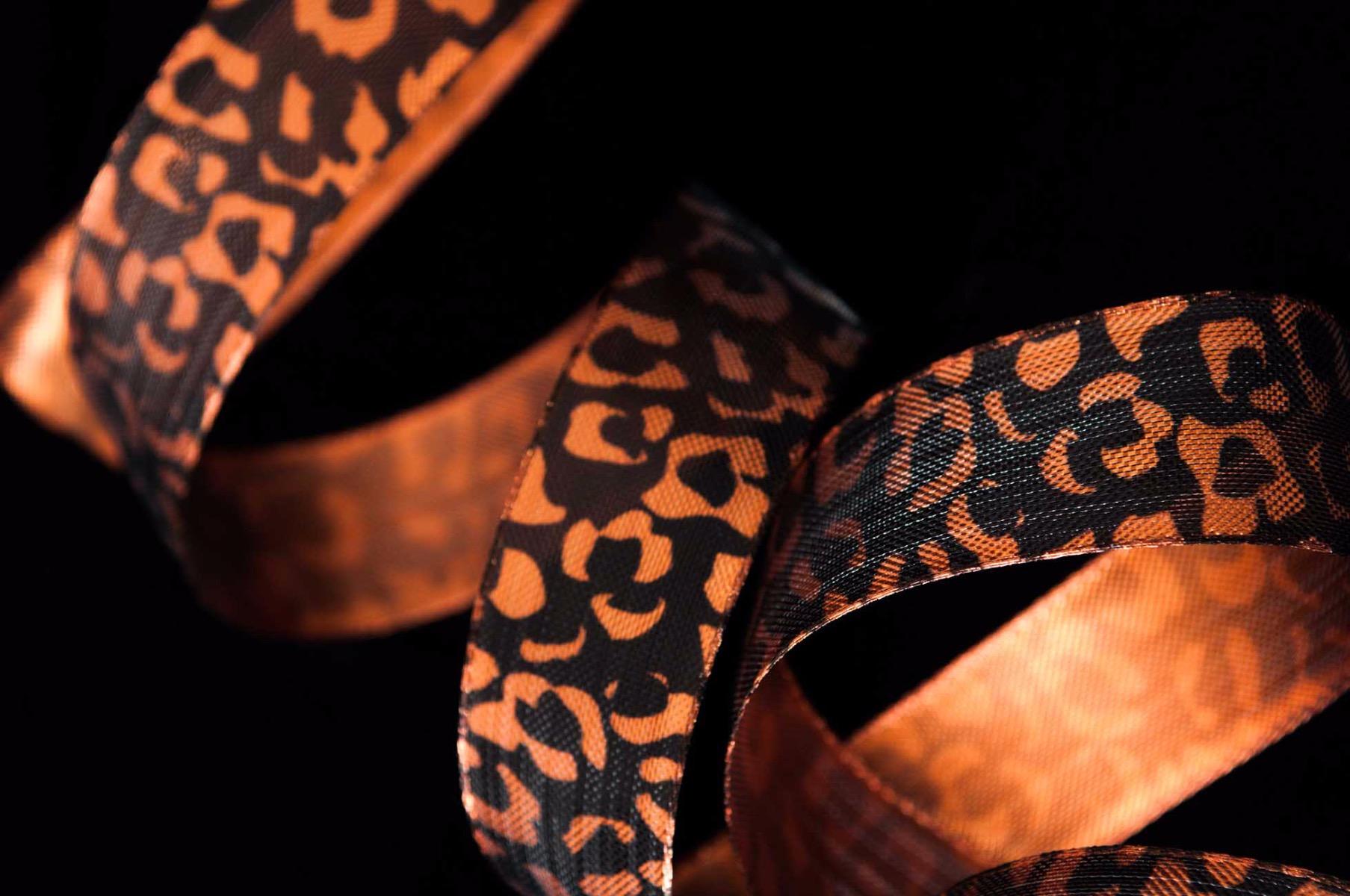 Leopard Spot Ribbon In Copper