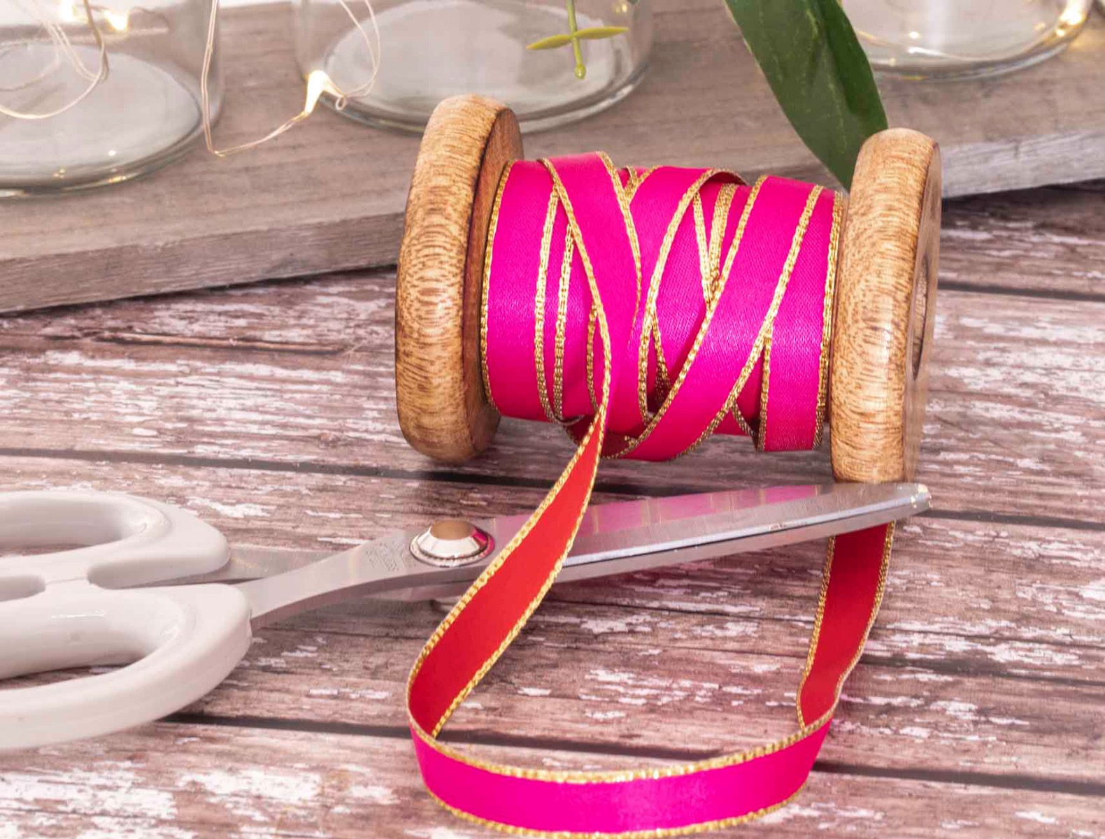 red and pink reversible ribbon