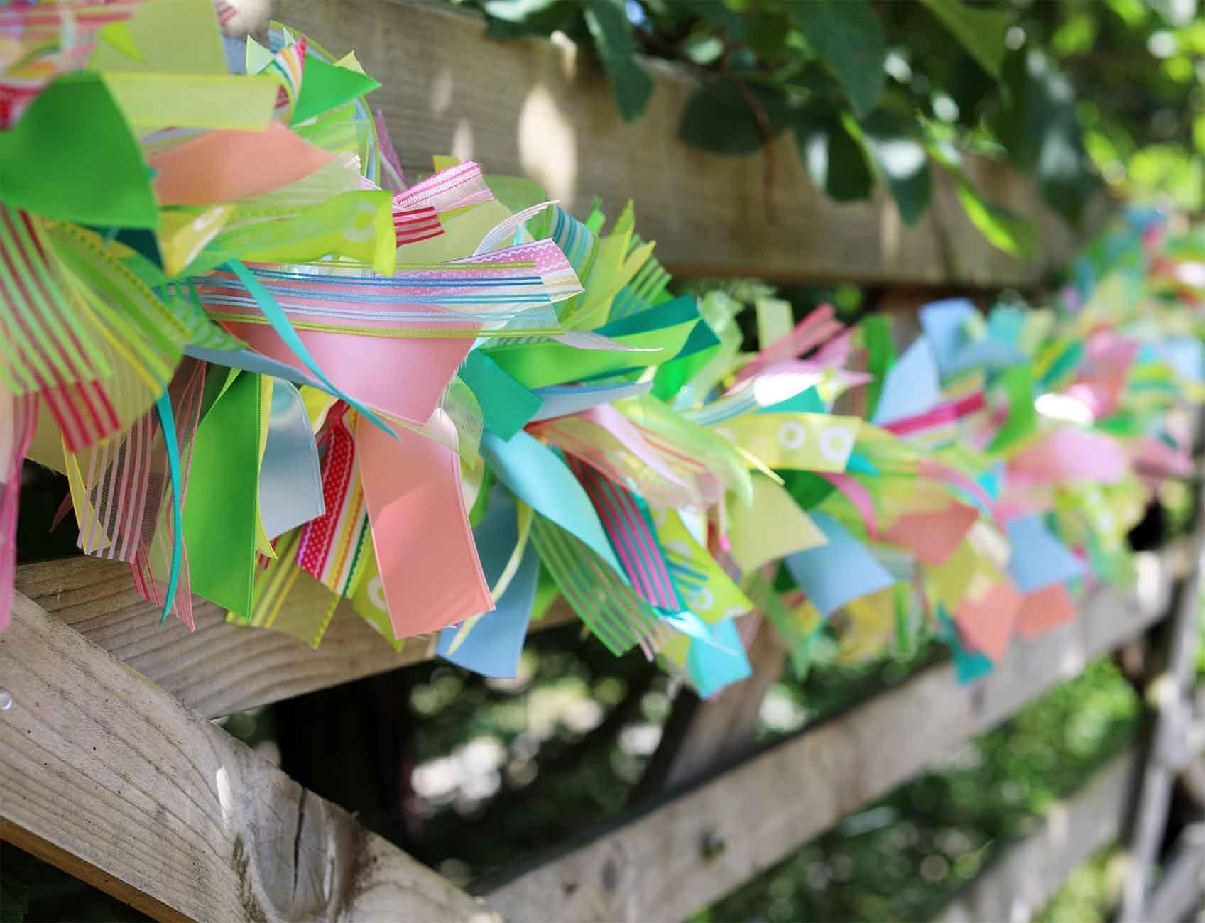 summer ribbon garland