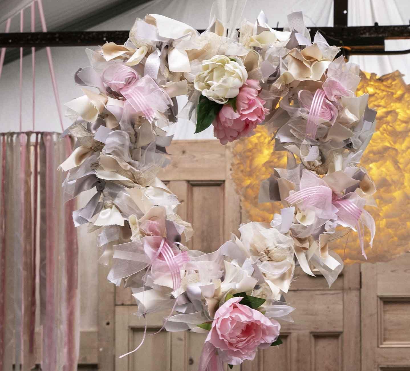 Ribbon Wedding Wreath
