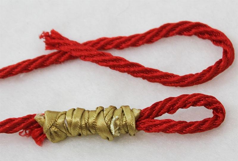Looped barley twist cord